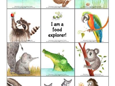 Food Adventures cards by StacyMooreStudio